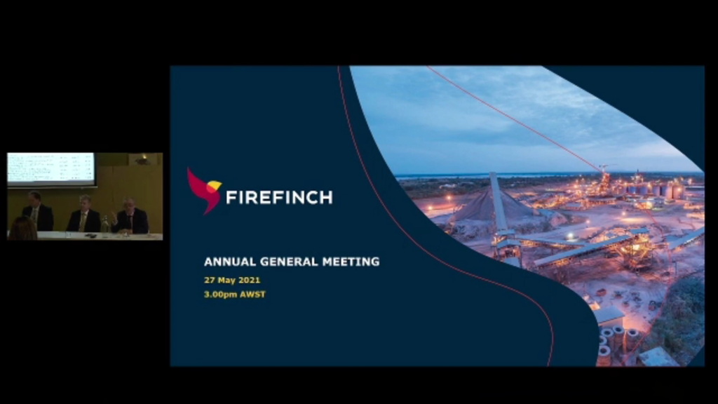 Annual General Meeting – May 2021 | Firefinch Limited