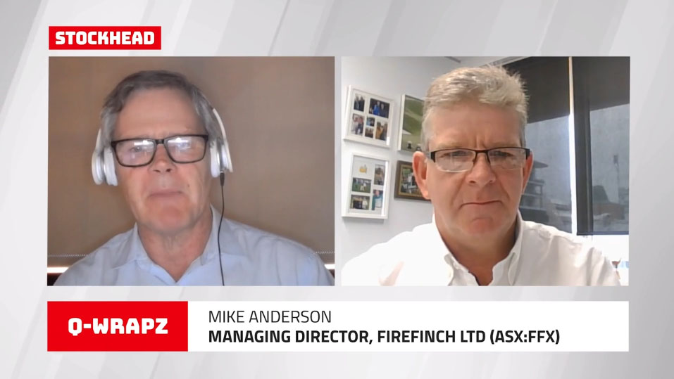 Stockhead Q-Wrapz Interview – Barry FitzGerald interviews Mike Anderson, MD of Firefinch Ltd